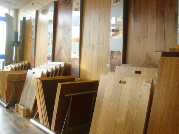wood flooring showroom